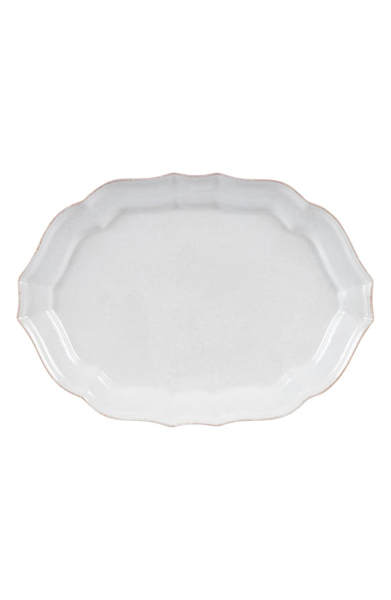 CASAFINA Impressions Large Oval Platter, Main, color, WHITE