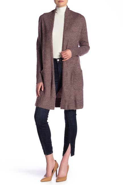 Image of SUSINA Shawl Collar Knee Length Cardigan