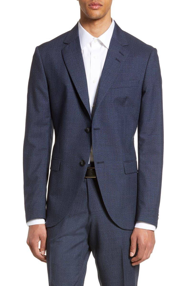 TIGER OF SWEDEN Jamonte Trim Fit Houndstooth Wool Blazer, Main, color, 405