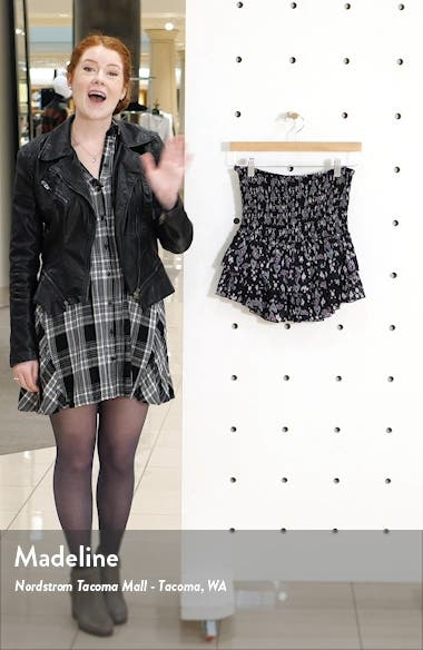 Frinley Smocked Miniskirt, sales video thumbnail