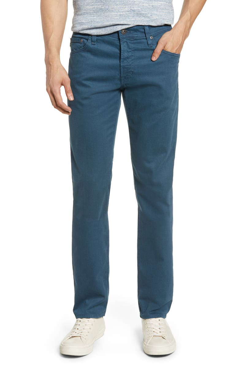 AG Tellis Herringbone Slim Fit Pants, Main, color, OXFORD BLUE
