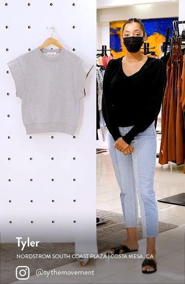 Oversize Muscle Short Sleeve Sweatshirt, sales video thumbnail