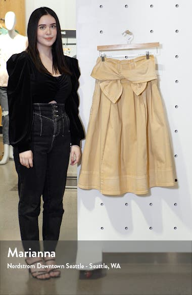 Virgil Tie Waist Midi Skirt, sales video thumbnail