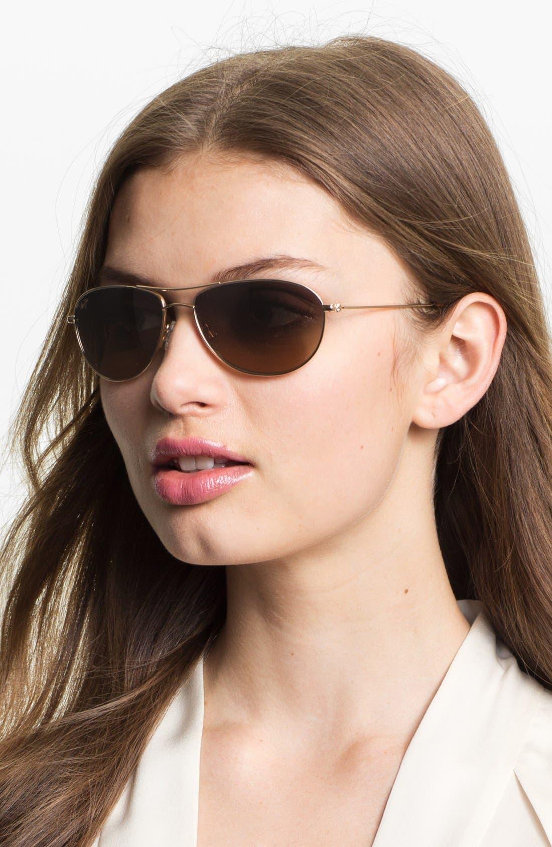 ,                             Baby Beach 56mm PolarizedPlus2<sup>®</sup> Aviator Sunglasses,                             Alternate thumbnail 3, color,                             GOLD/ TORTOISE