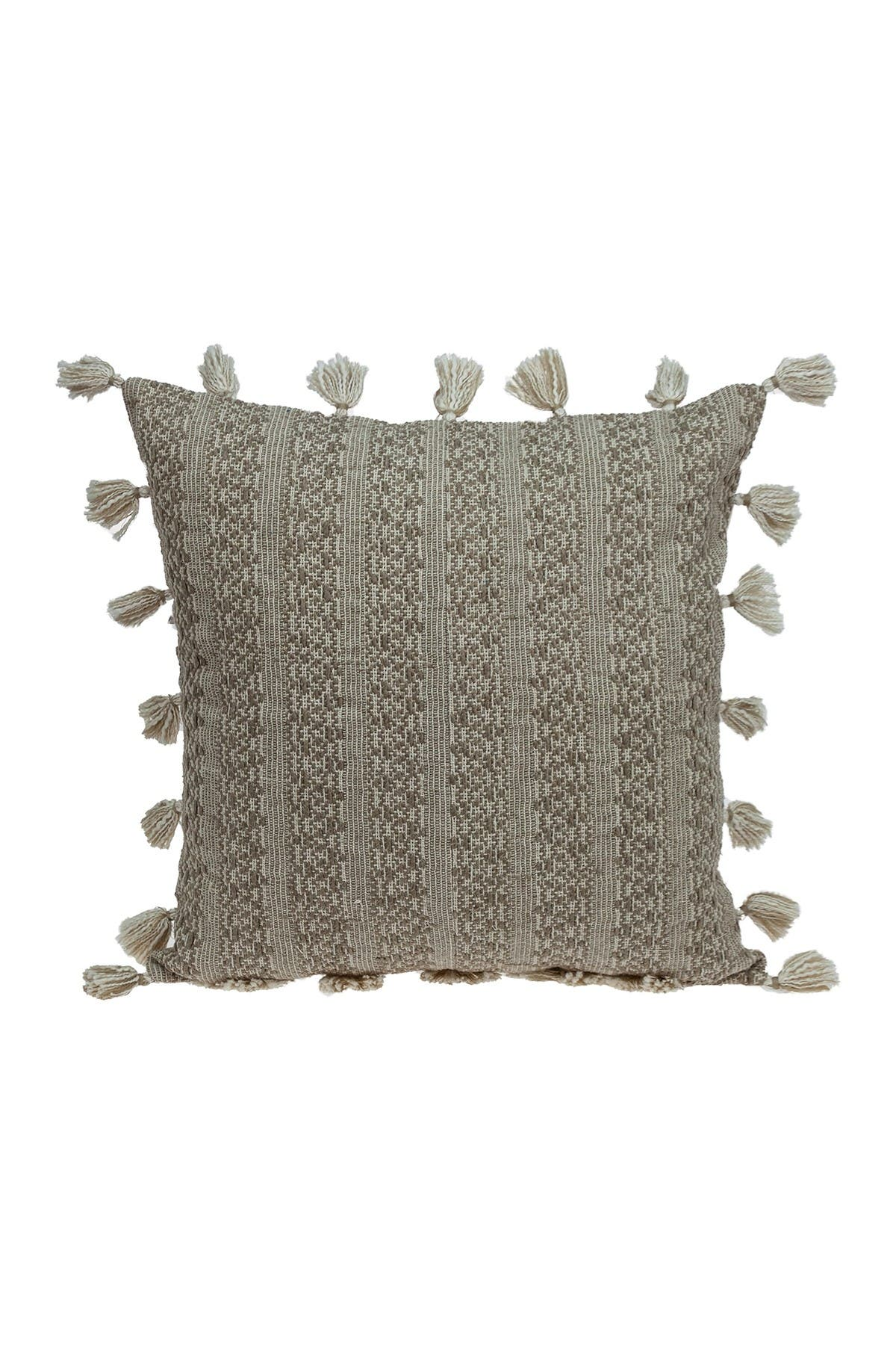 Image of Parkland Collection Caroline Transitional Beige Throw Pillow