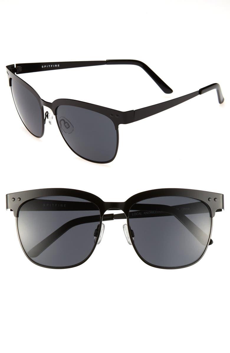 SPITFIRE 'Local Knowledge' Sunglasses, Main, color, 001