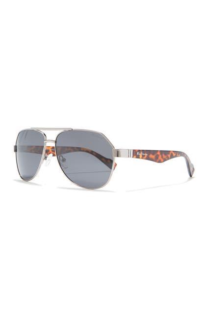 Image of Ben Sherman Alfie 61mm Aviator Sunglasses