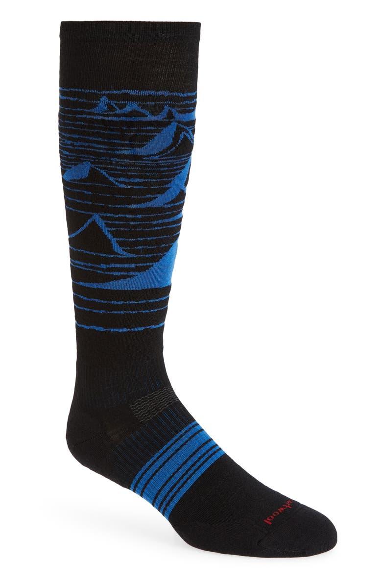 SMARTWOOL PhD<sup>®</sup> Snowboard Light Elite Socks, Main, color, BLACK