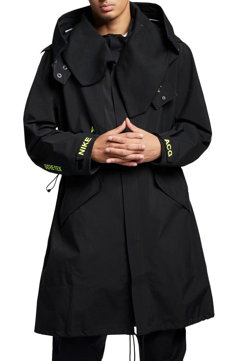 NIKE NikeLab ACG Gore-Tex<sup>®</sup> Men's Jacket, Main, color, BLACK/ REFLECTIVE SILVER