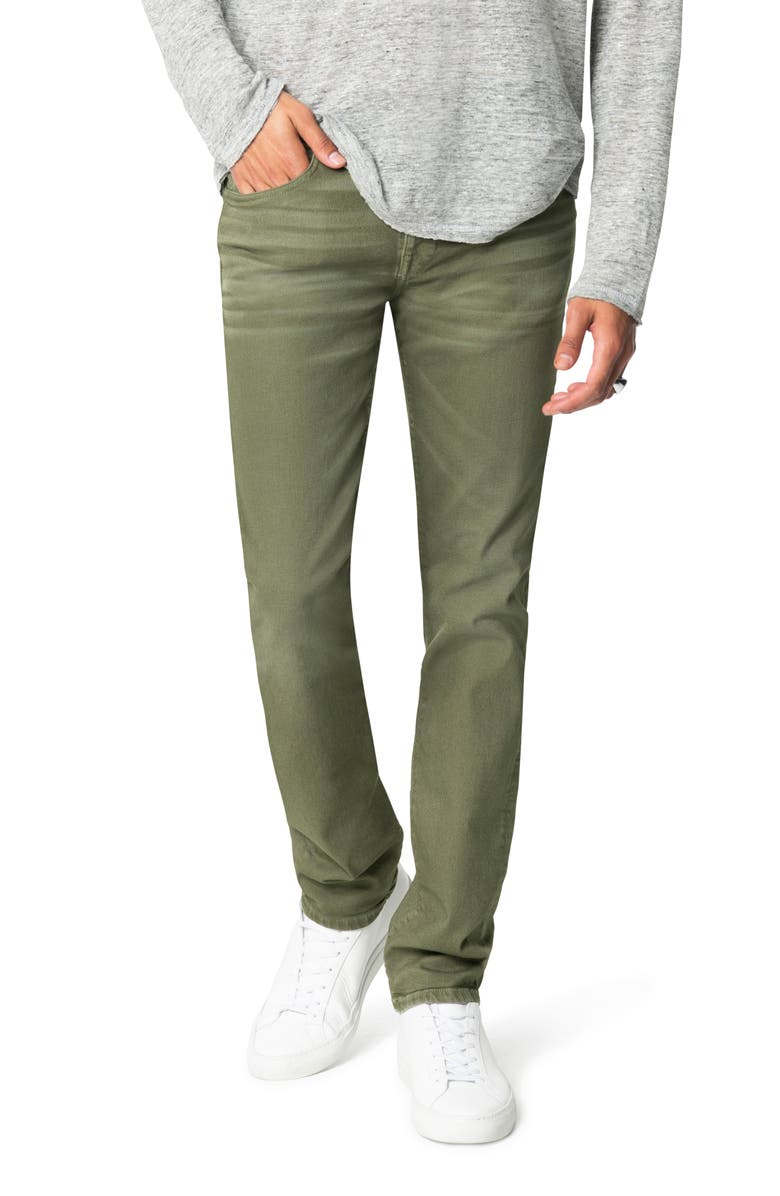JOE'S The Asher Double Dye Slim Fit Jeans, Main, color, BURNT OLIVE