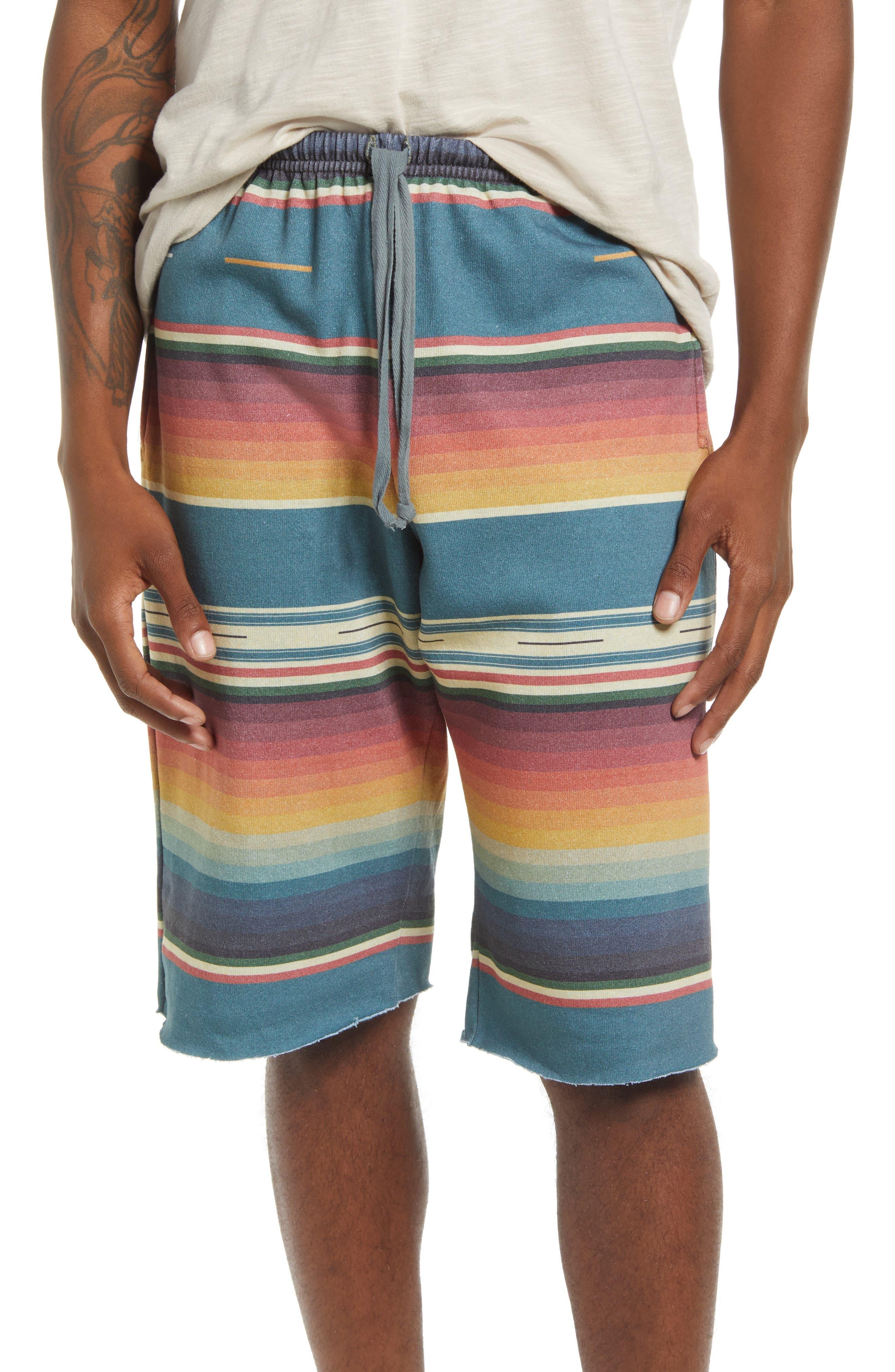 Stripe Cutoff Sweat Shorts