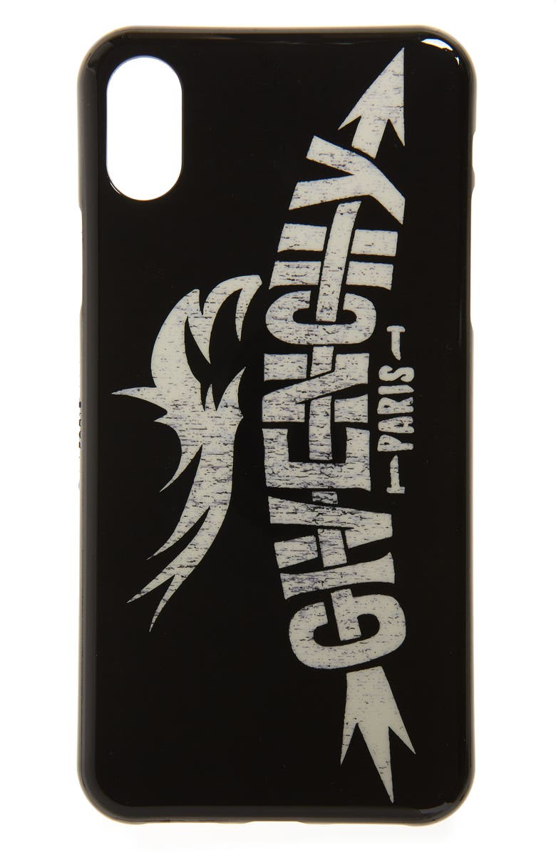 GIVENCHY Logo iPhone X/Xs Case, Main, color, 004