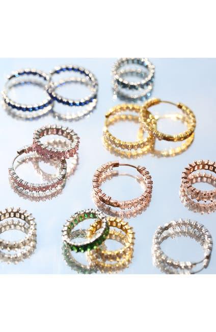 Image of Bling Jewelry CZ Hoop Earrings