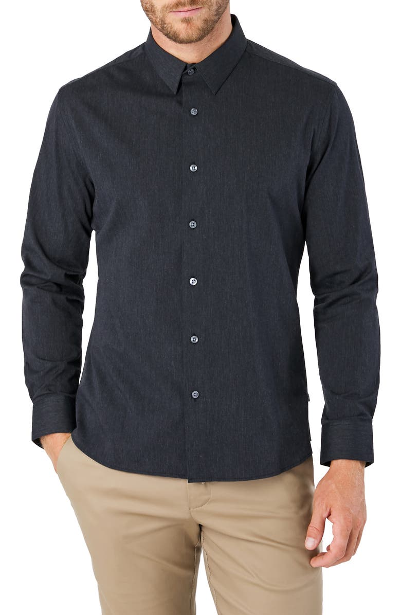 7 DIAMONDS Old Town Road Slim Fit Button-Up Shirt, Main, color, MIDNIGHT