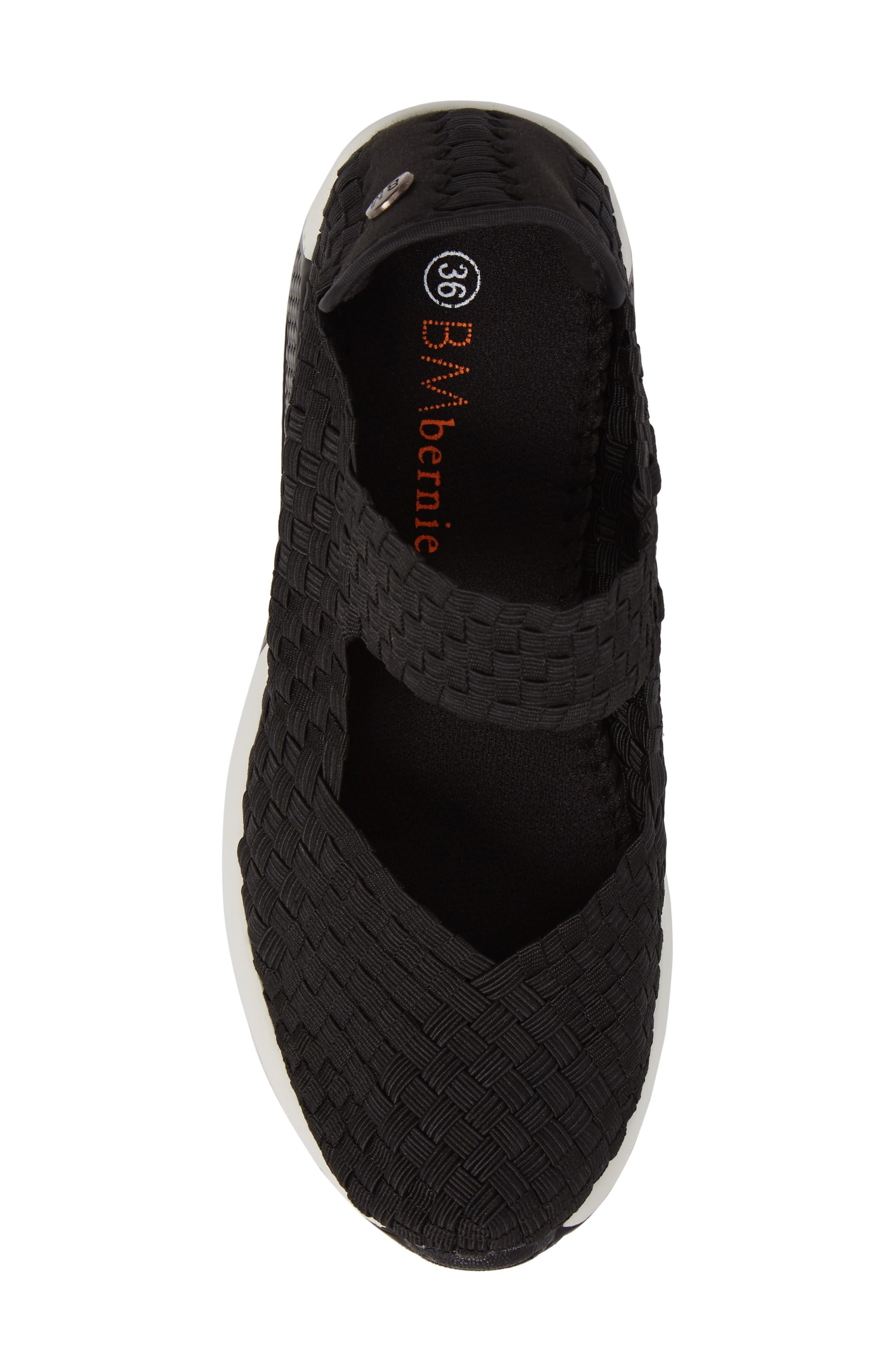 ,                             Best Charm Mary Jane Sneaker,                             Alternate thumbnail 5, color,                             BLACK FABRIC