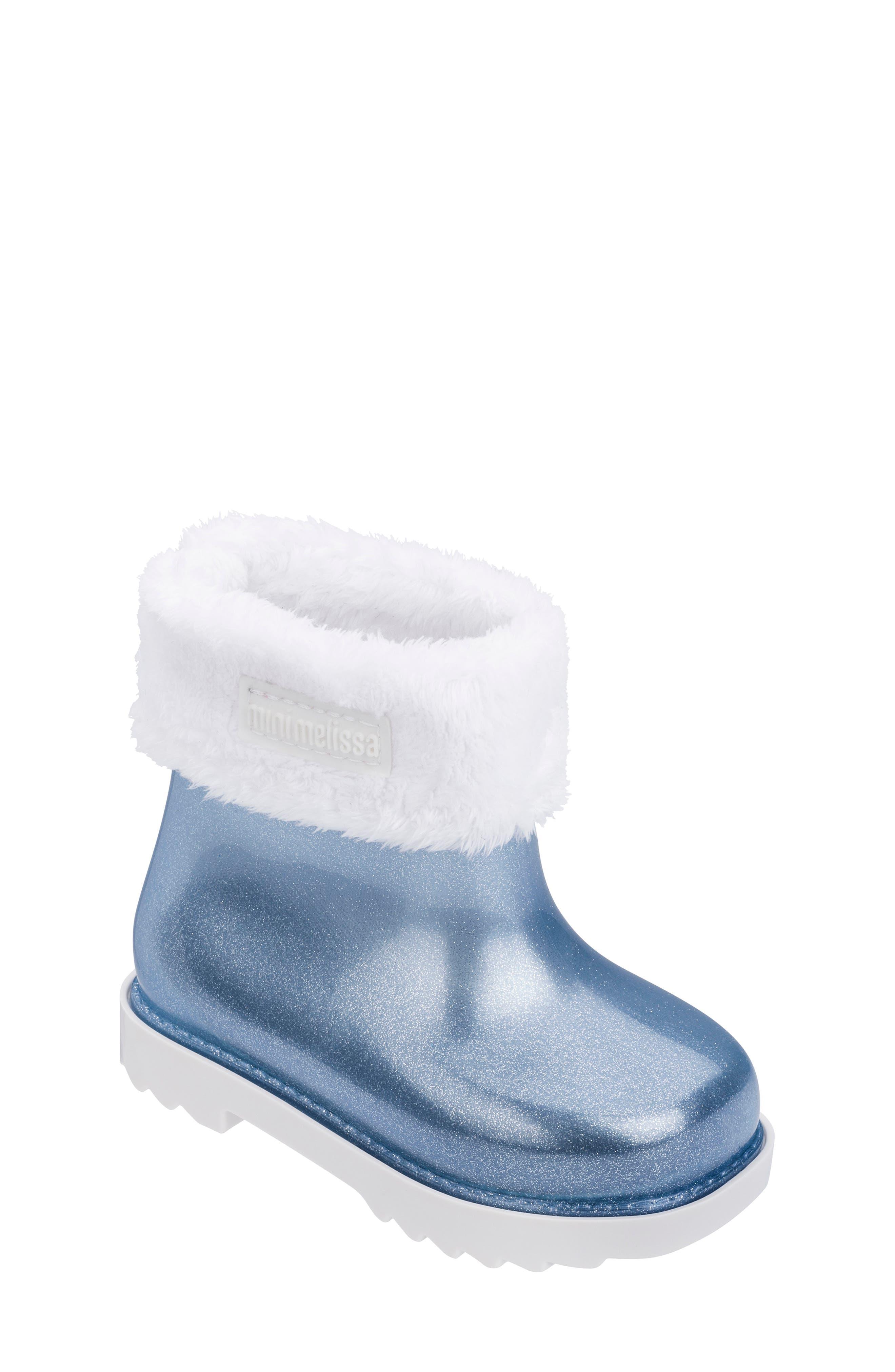 Image of Mini Melissa Faux Fur Trim Rain Boot II