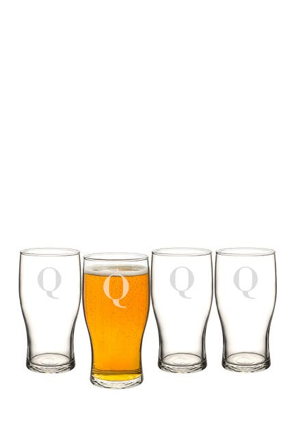 Image of Cathy's Concepts Monogram Set of 4 Pilsner Glasses - Multiple Letters Available