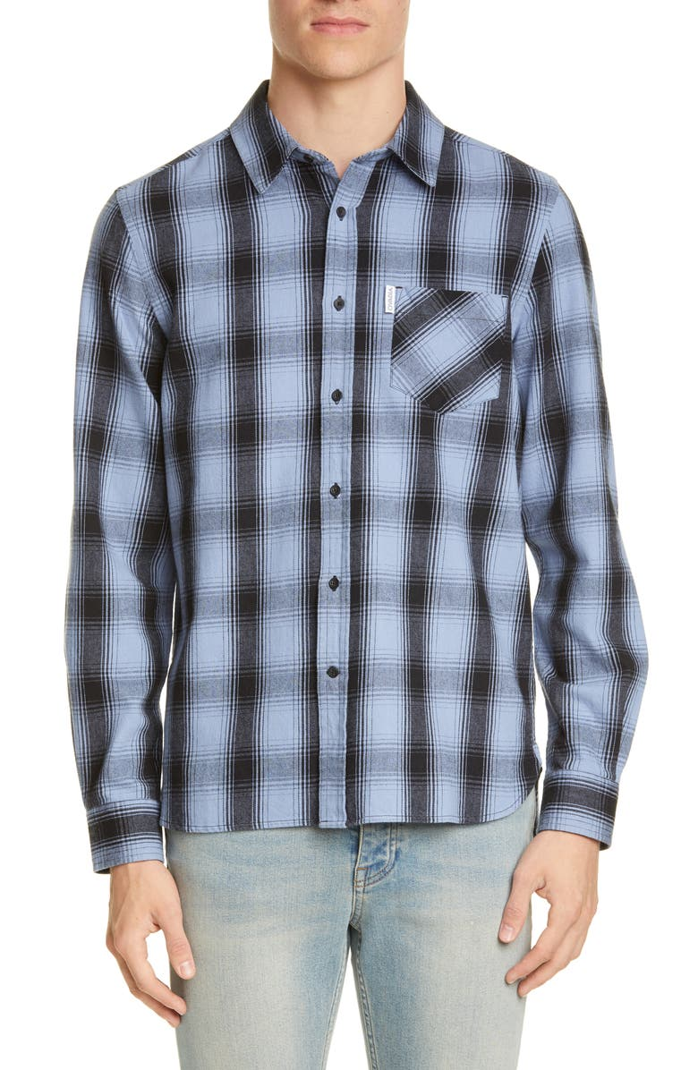 OVADIA & SONS Max Plaid Button-Up Shirt, Main, color, BLUE