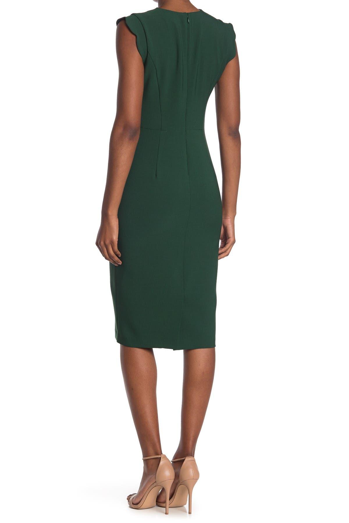 Image of Maggy London Scallop Sheath Dress