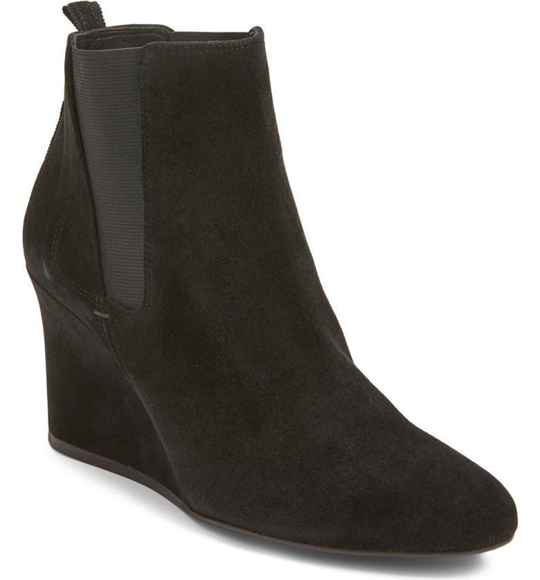 LANVIN Chelsea Wedge Boot, Main, color, 001