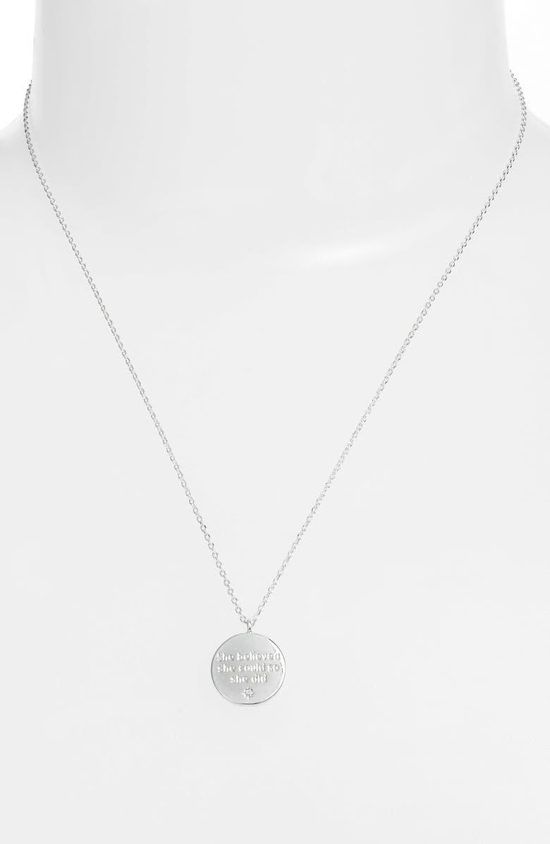 ESTELLA BARTLETT Engraved Quote Necklace, Main, color, 040
