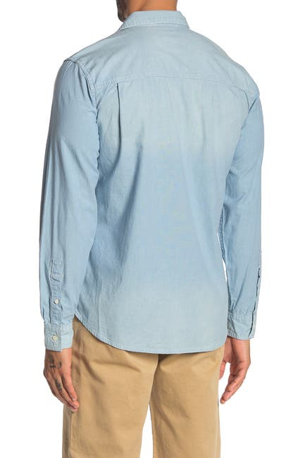 Image of FRAME Chambray Slim Fit Shirt