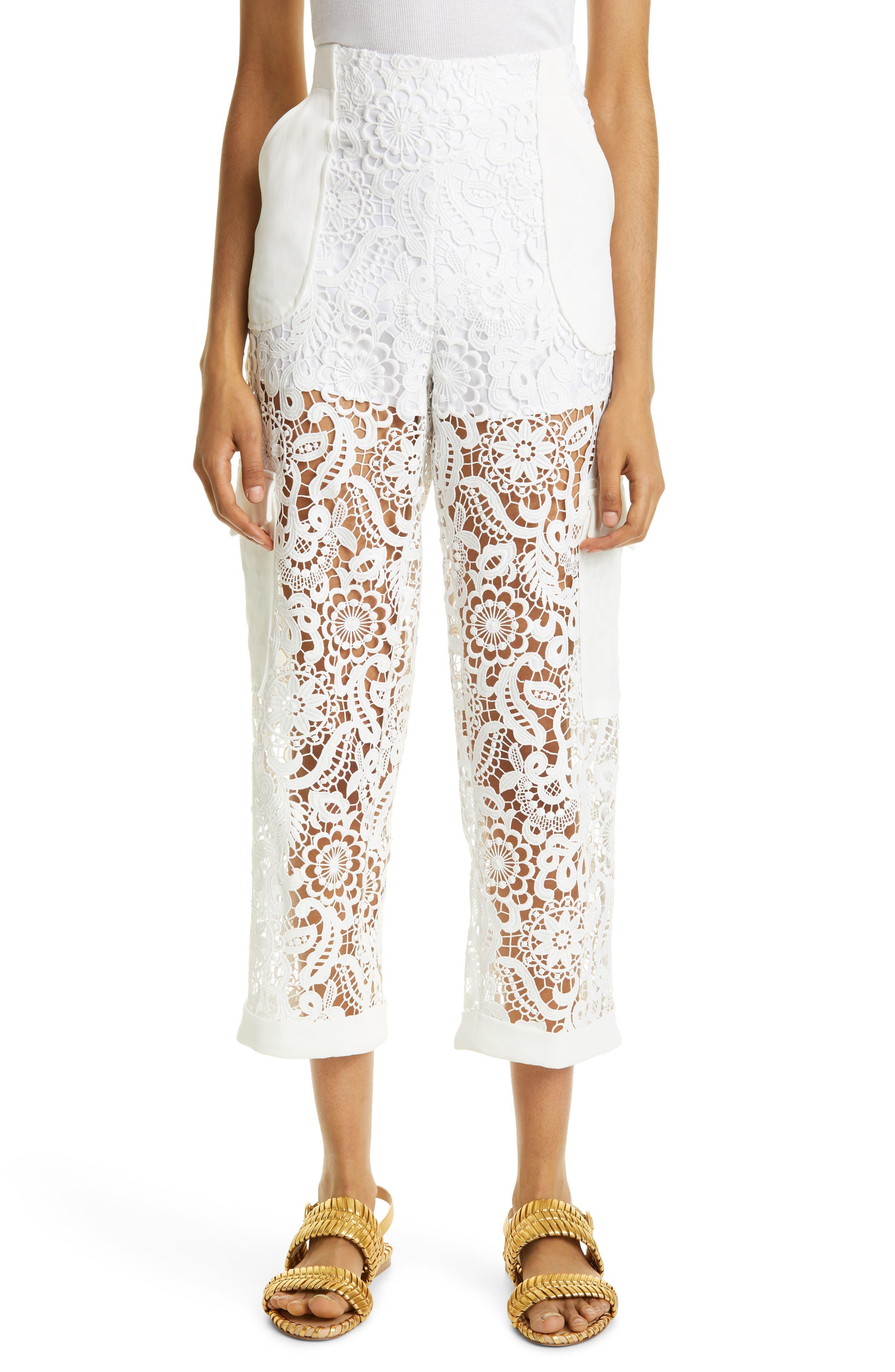 Crop Lace Cargo Pants