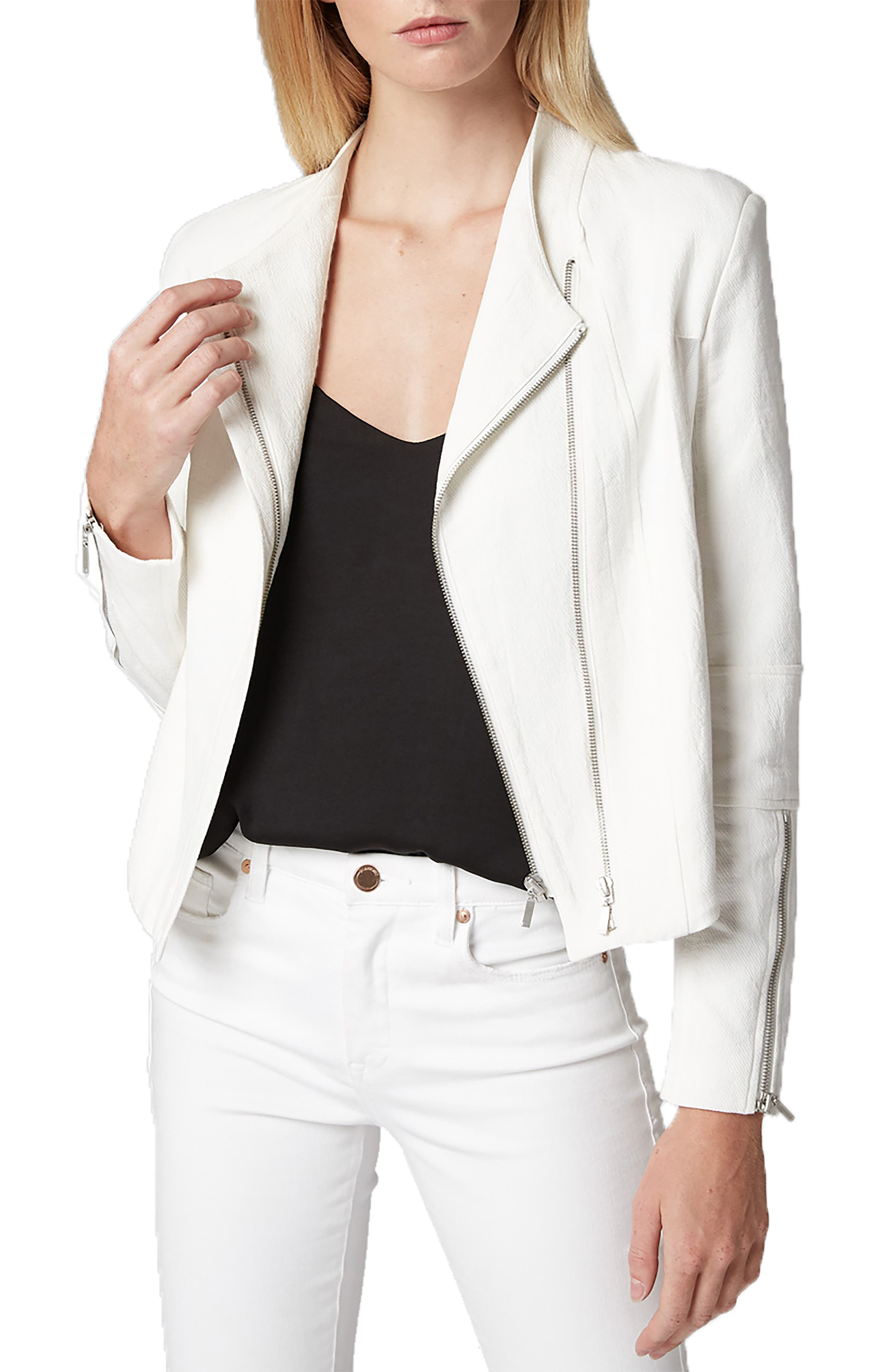 Mesh Detail Crepe Jacket, Main, color, WINDY CITY