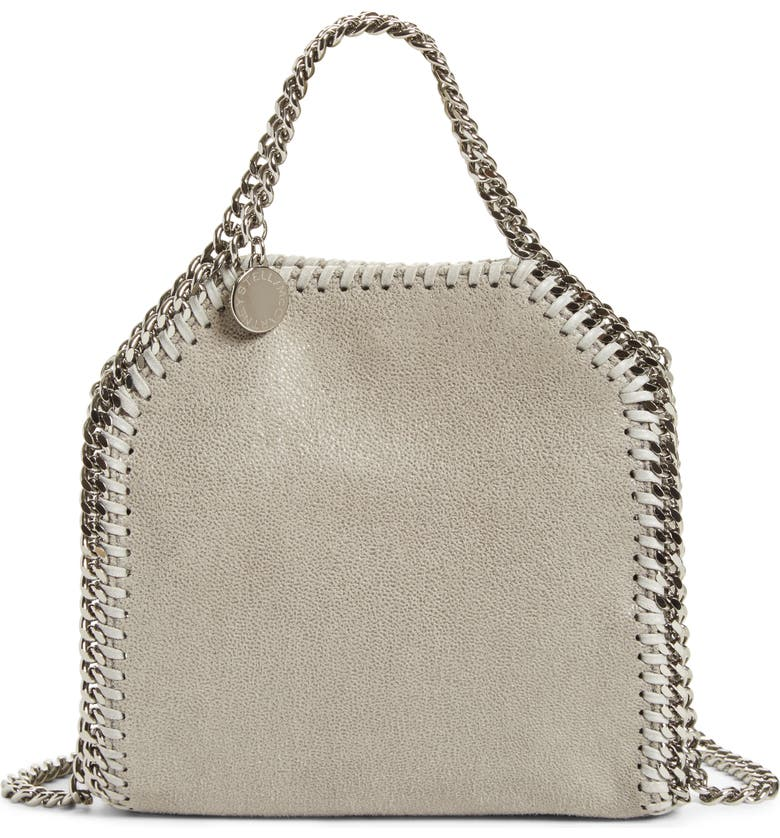 STELLA MCCARTNEY 'Tiny Falabella' Faux Leather Crossbody Bag, Main, color, 053