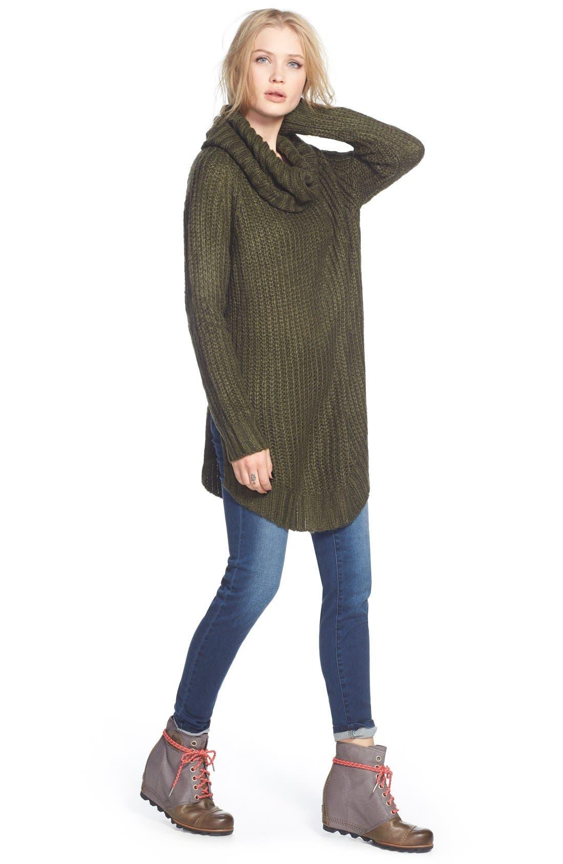 ,                             Cowl Neck Sweater,                             Alternate thumbnail 25, color,                             300