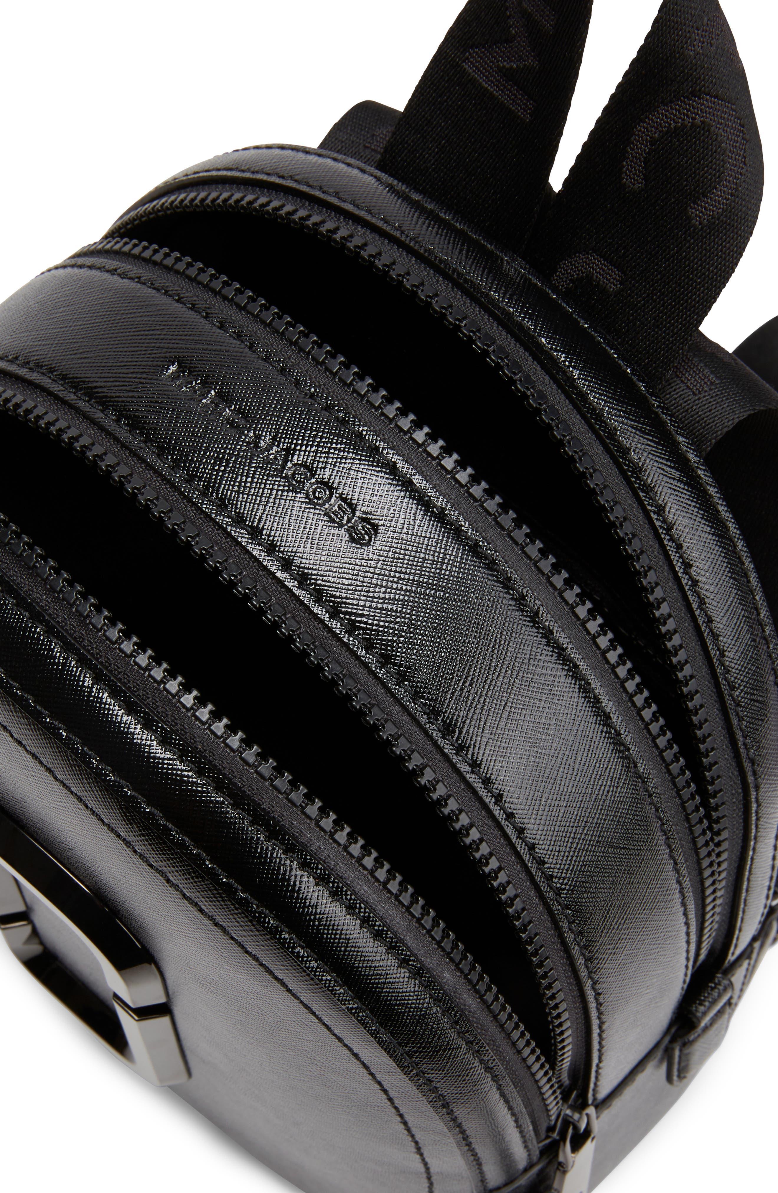 ,                             Pack Shot Leather Backpack,                             Alternate thumbnail 5, color,                             BLACK