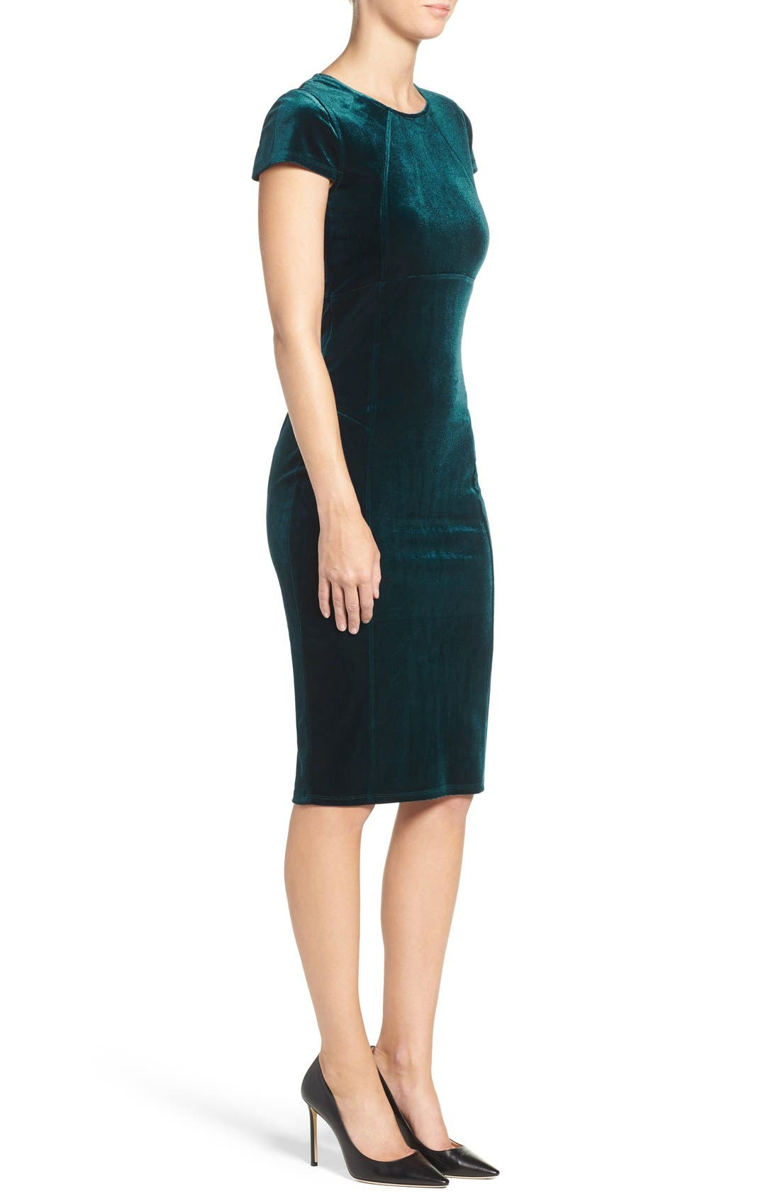 ,                             Vista Velvet Midi Dress,                             Alternate thumbnail 15, color,                             300