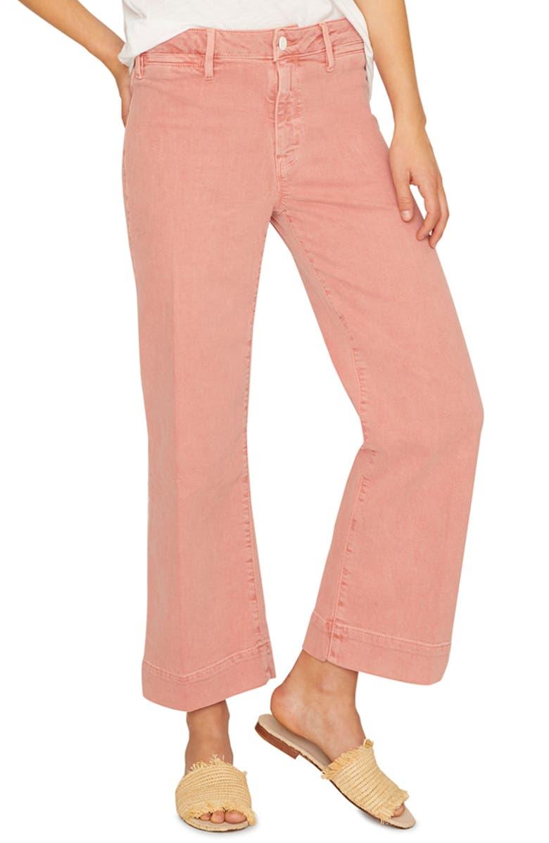 SANCTUARY Non Comformist Crop Wide Leg Jeans, Main, color, 950