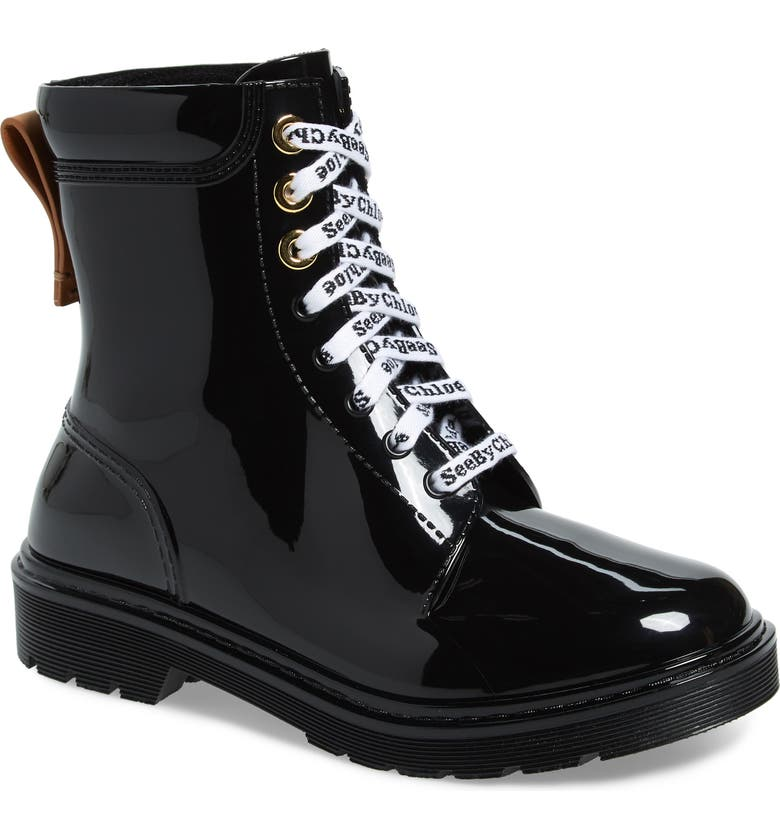SEE BY CHLOÉ Rain Boot, Main, color, NERO