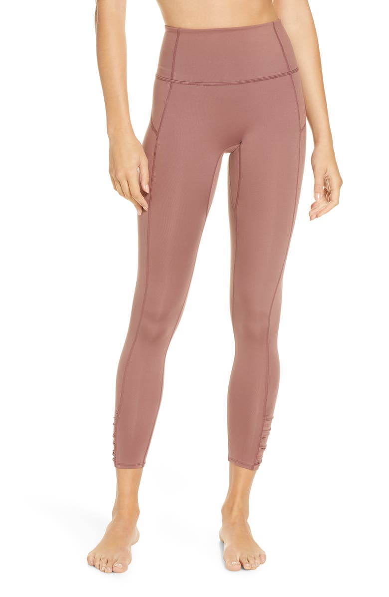 FREE PEOPLE FP MOVEMENT You're a Peach Leggings, Main, color, CHOCOLATE