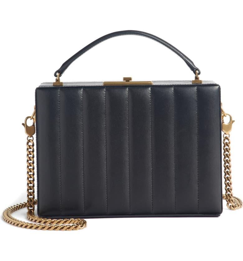 5c1fb6234d Saint Laurent Nan Quilted Leather Frame Bag | Nordstrom