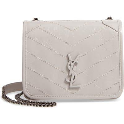 Saint Laurent Niki Leather Crossbody Bag - Grey