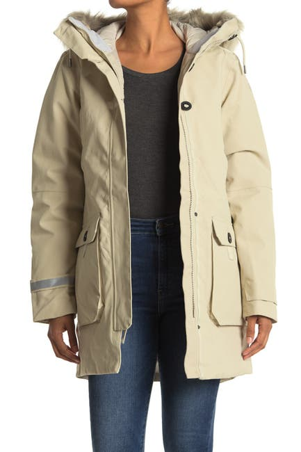 Image of Helly Hansen Longyear II Faux Fur Trim Hooded Waterproof Down Parka Jacket