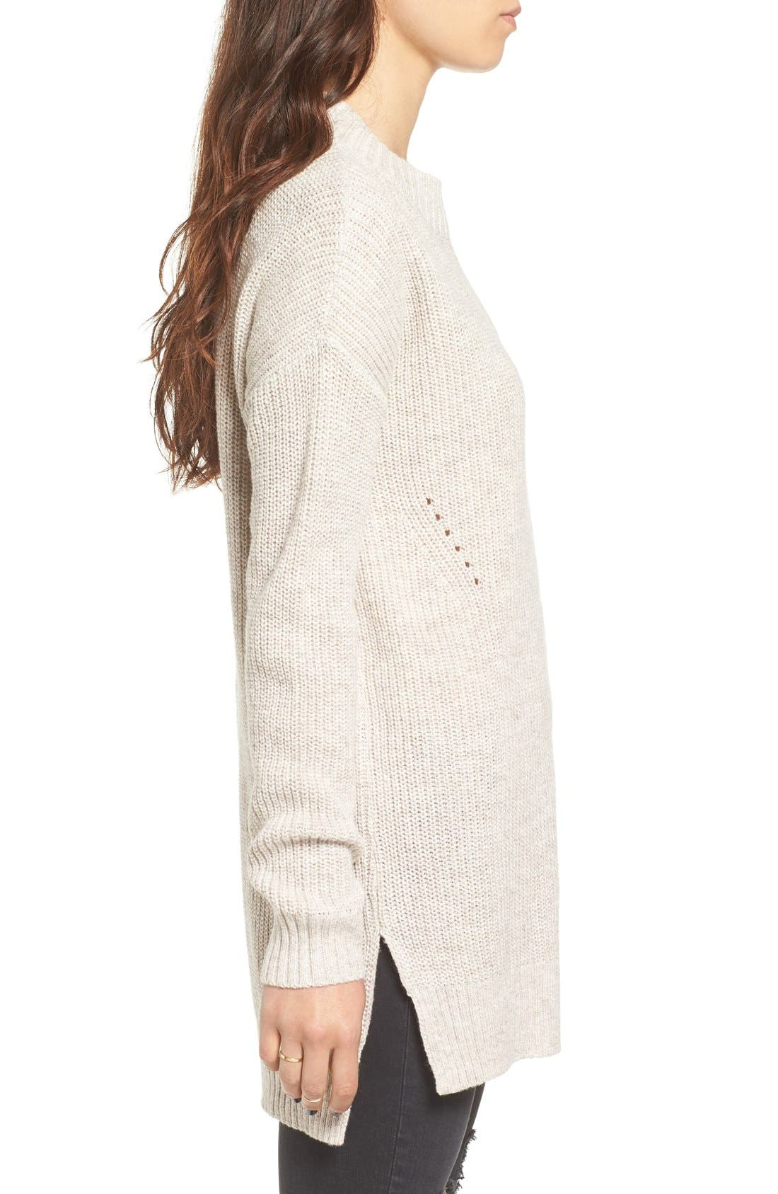 ,                             Ribbed Mock Neck Pullover,                             Alternate thumbnail 9, color,                             030