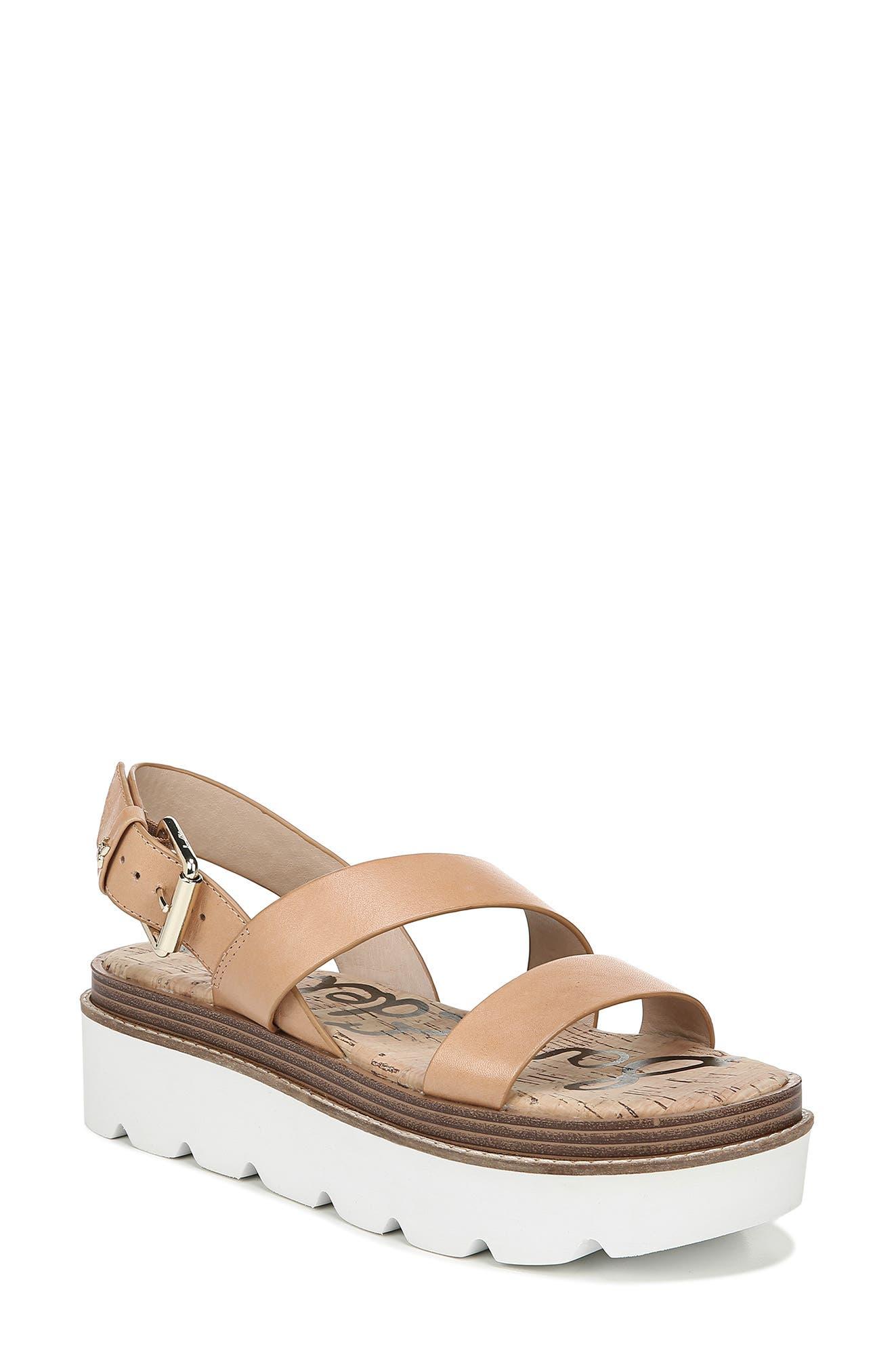 Sam Edelman Rasheed Slingback Platform Sandal, Brown