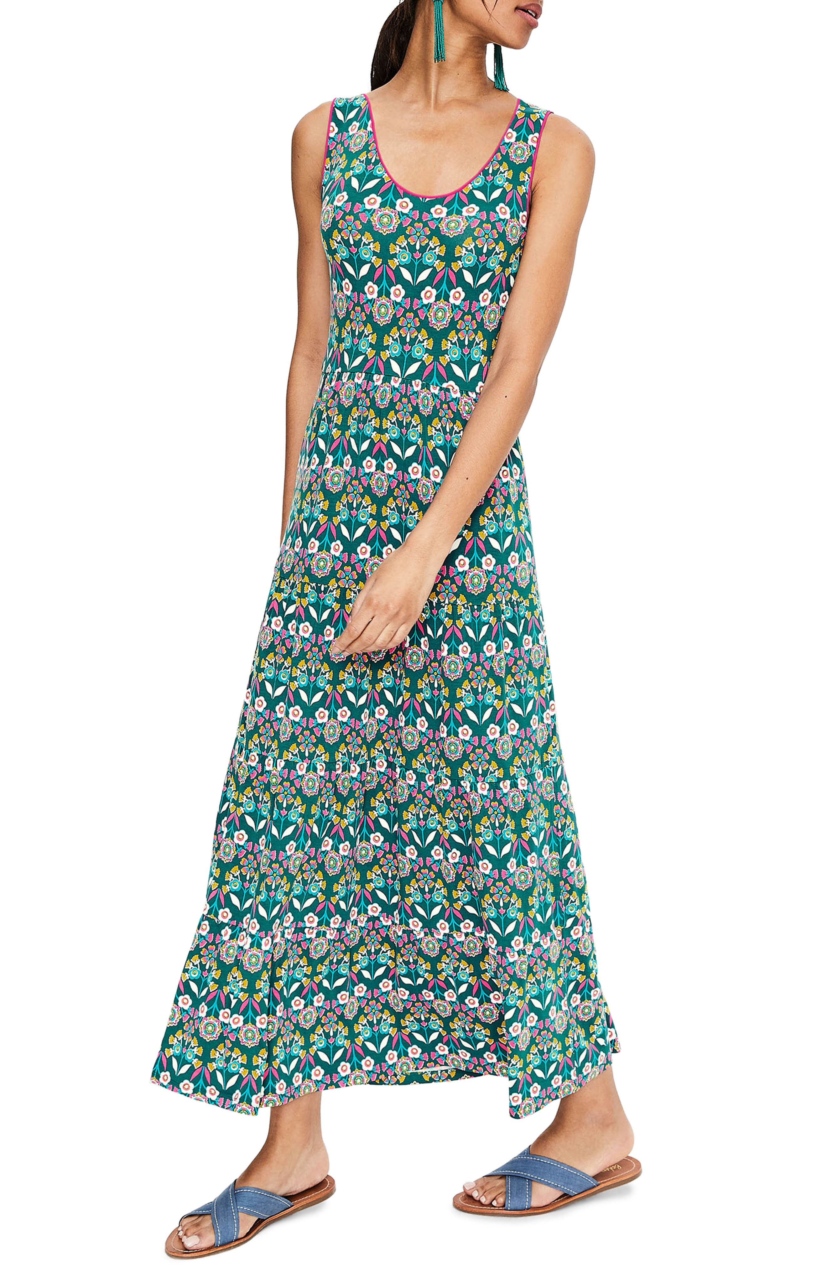 Boden Maya Jersey Maxi Dress, Green