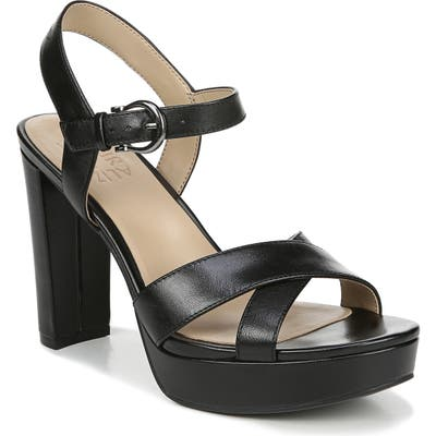 Naturalizer Mia Cross Strap Platform Sandal- Black