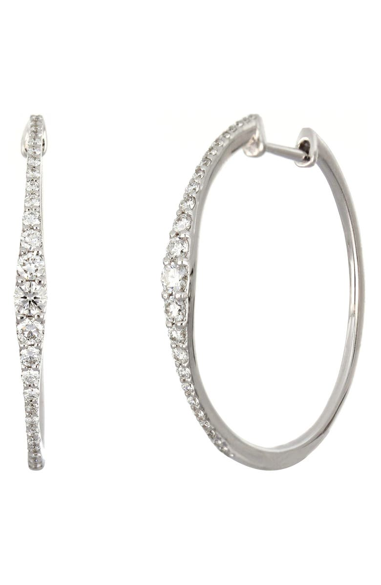 BONY LEVY Liora Graduated Diamond Hoop Earrings, Main, color, 711