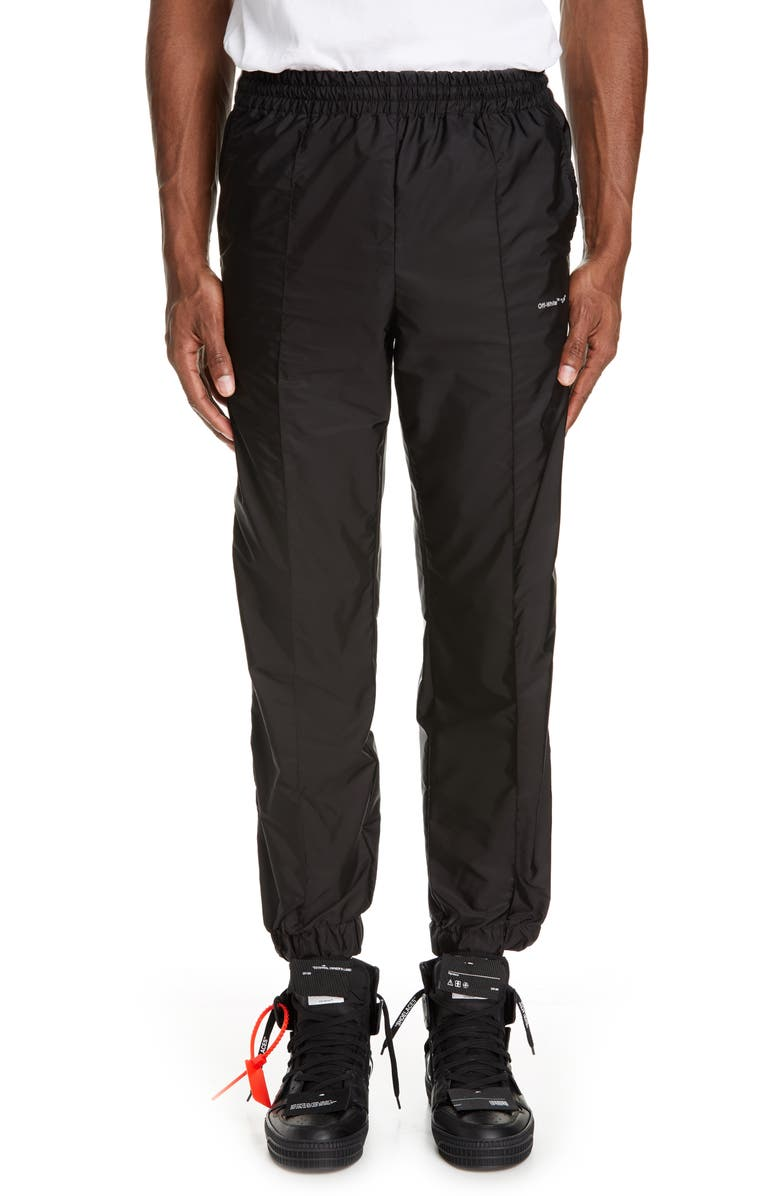 OFF-WHITE Nylon Jogger Pants, Main, color, 001