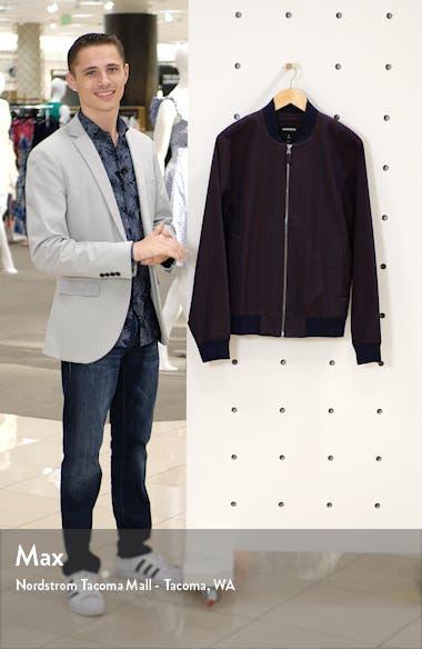 Boulevard Slim Fit Stripe Bomber Jacket, sales video thumbnail