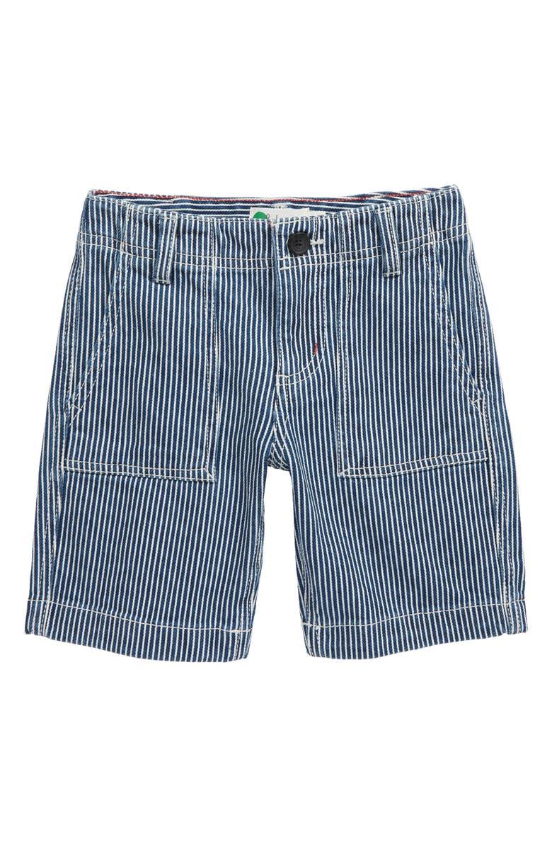 MINI BODEN Gardener Shorts, Main, color, INDIGO BLUE