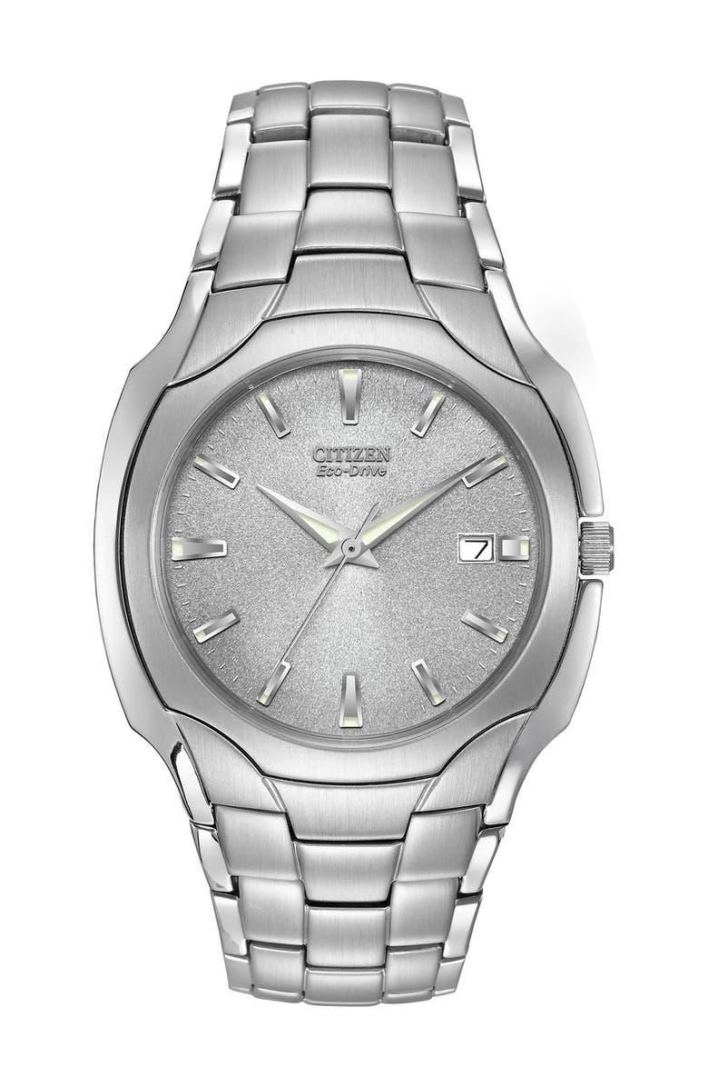 CITIZEN Men's Eco-Drive Bracelet Watch, 38mm, Main, color, SILVER