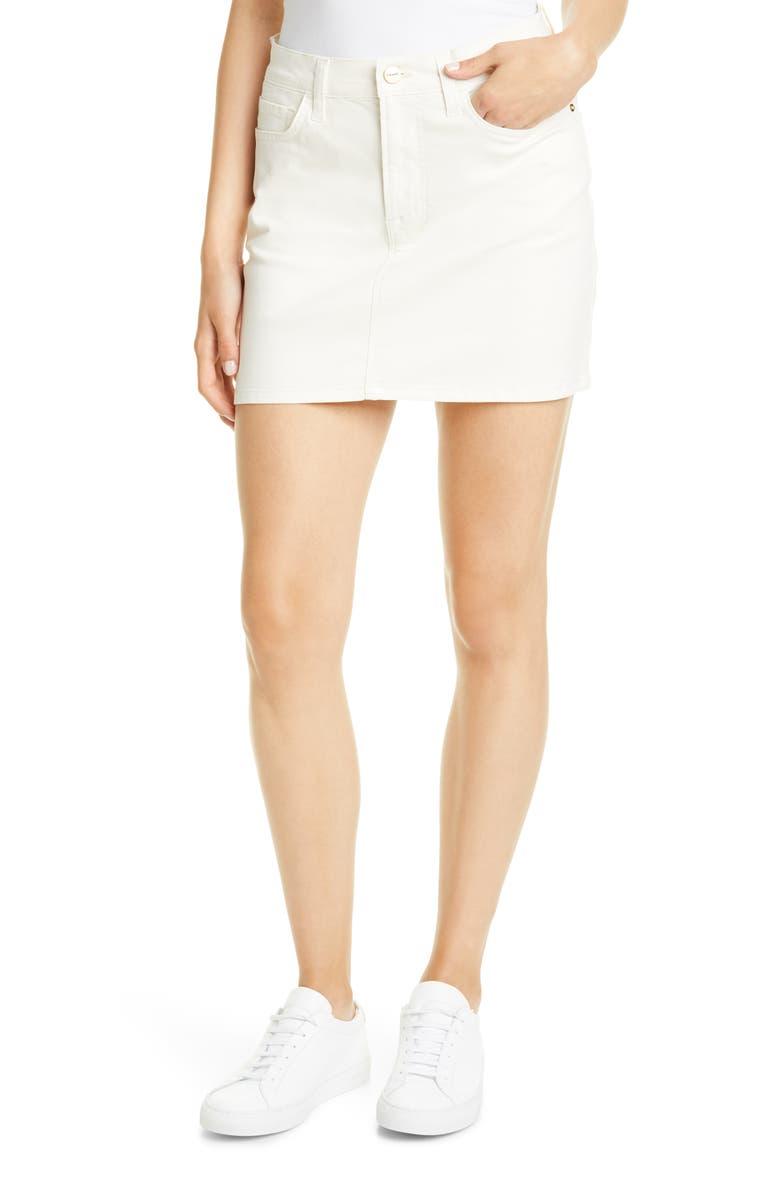 Le Coated Miniskirt by Frame