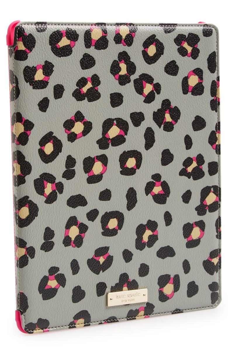 KATE SPADE NEW YORK 'cyber cheetah' iPad case, Main, color, 020
