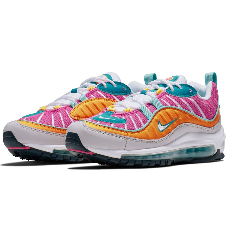 NIKE Air Max 98 S2S Sneaker, Main, color, TEAL/ GREY/ TROPICAL TWIST